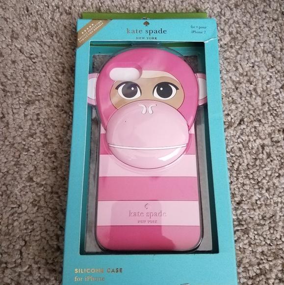 Kate spade pink monkey silicone case